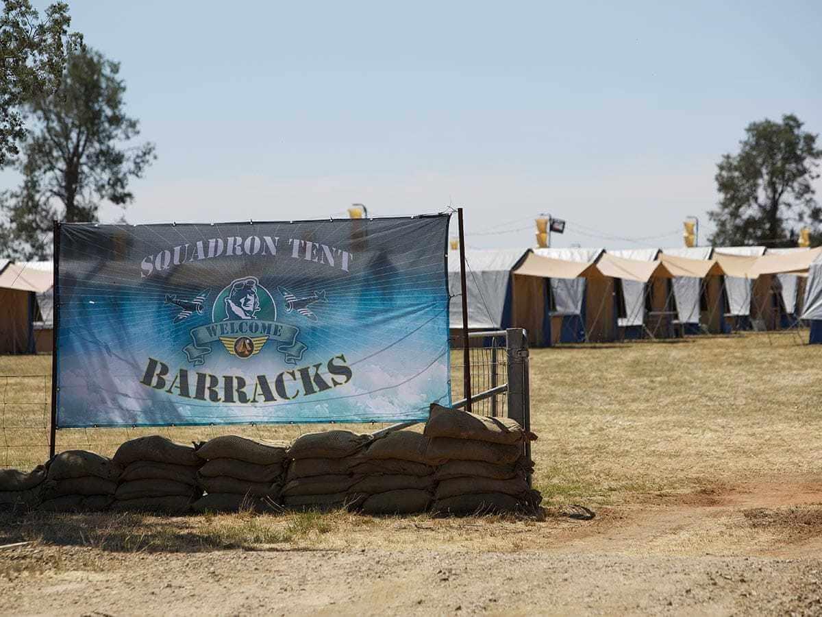Warbirds Squadron Tent Barracks